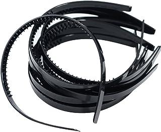 milageto 10ピース/個10mmブラック/ホワイトプラスチックアリスヘアバンドヘッドバンドDIYヘアヘッドウェア