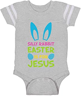 Tstars Silly Rabbit Easter is for Jesus Funny Easter Bunny Baby Jersey Bodysuit
