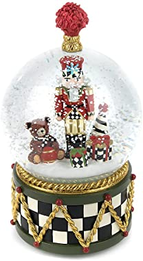 MacKenzie-Childs Nutcracker Snow Globe and Music Box, Christmas Decoration, Holiday Collectibles