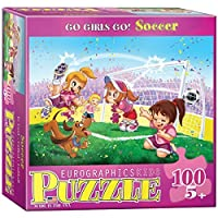 EuroGraphics Soccer Stars Go Girls Go! Puzzle (100-Piece) by EuroGraphics