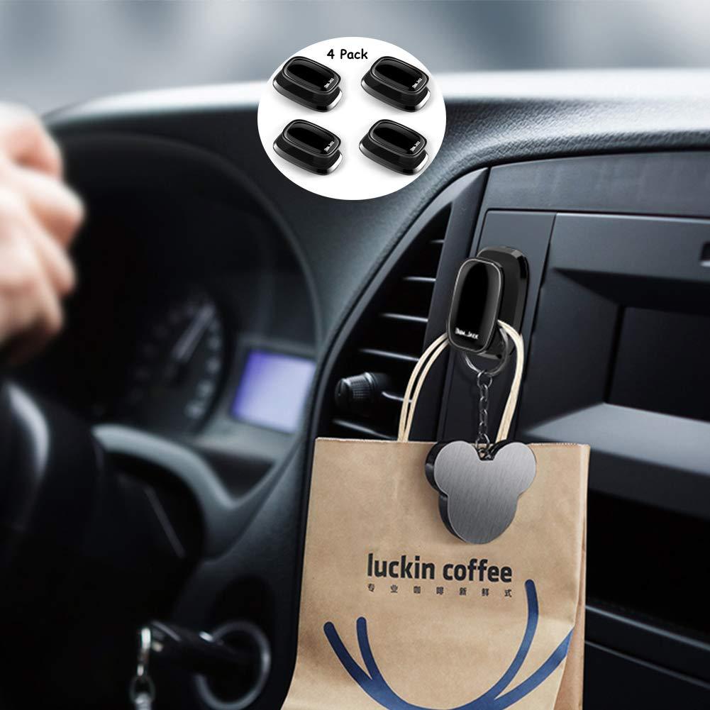 Amazon Com Ben Jack 4 Pack Car Vehicle Hook Hanger Stick On Dashboard Instrument Panel Storage For Purse Groceries Bag Handbag Command Hooks Automotive