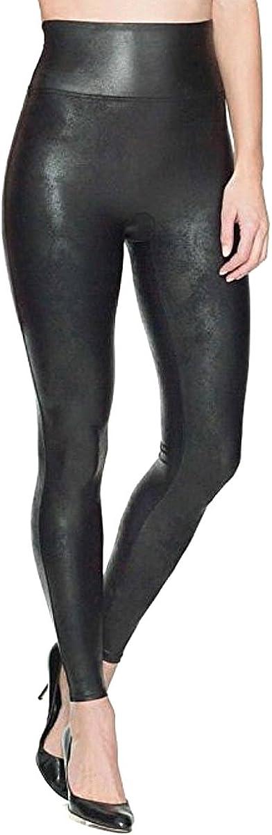 SPANX shop Women's safety Faux Leather 2437 Black Medium Leggings