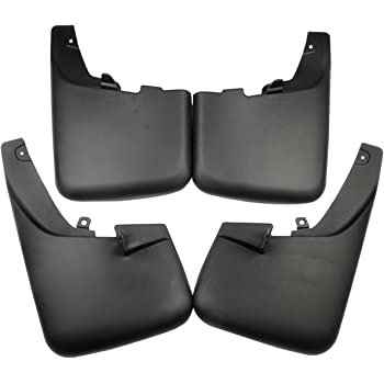 CHEDA 4pcs Front and Rear Splash Guards Mud Flaps for F250 F350 Super Duty w//Wheel Lip 99-10 Black