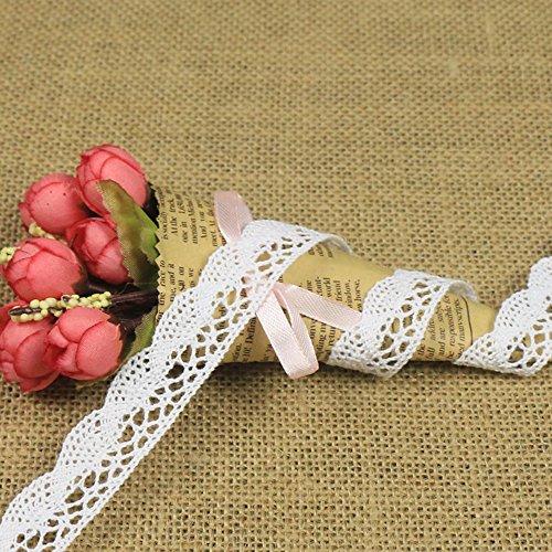 20 yardas borde de encaje blanco frontera de encaje cinta de encaje vintage cinta deco, arco de encaje, cinta regalo de boda bordure de Navidad