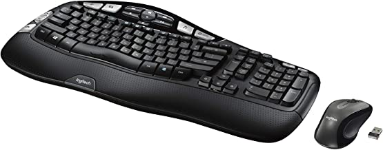 Logitech MK550 Wireless Wave Keyboard and Mouse Combo – Includes Keyboard and..