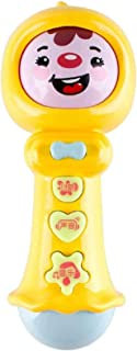 FunBlast Stick Rattle for Toddler Toy with Face Changer, Colorful Light & Sound Toy for Babies - Baby Rattle Toy for Kids-...