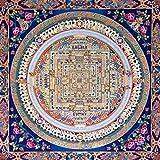 U/D Thangka Moderne Guanyin Mandala Thangka Posters et Impressions Art Mural Toile Peinture Peinture Pictures murales pour Salon Décoration de la Maison Pas de Cadre