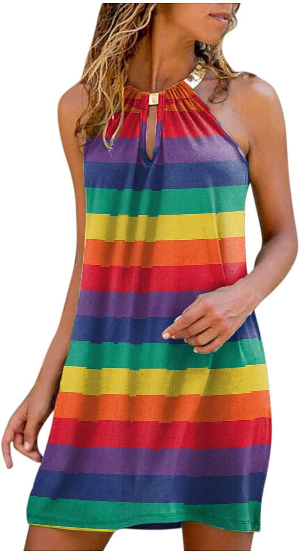 Lovely Nursling Boho Dress for Cheap mail order specialty store Women Year-end gift Neck Floral Do Halter Print