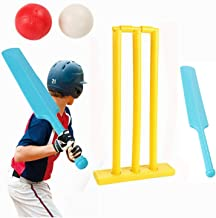 Cricket Set for Kids 4Pcs Foldable Portable Children Cricket Kit for Game Sports Gift for Baby