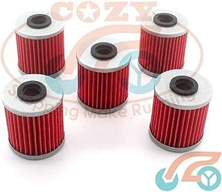 Corolado Spare Parts, 5Pcs Oil Filters for Suzuki Rmz 250 Rmz450 2008-2016 Evo 300 250 4 Stroke Kawasaki Kx 250 250F Kx450F