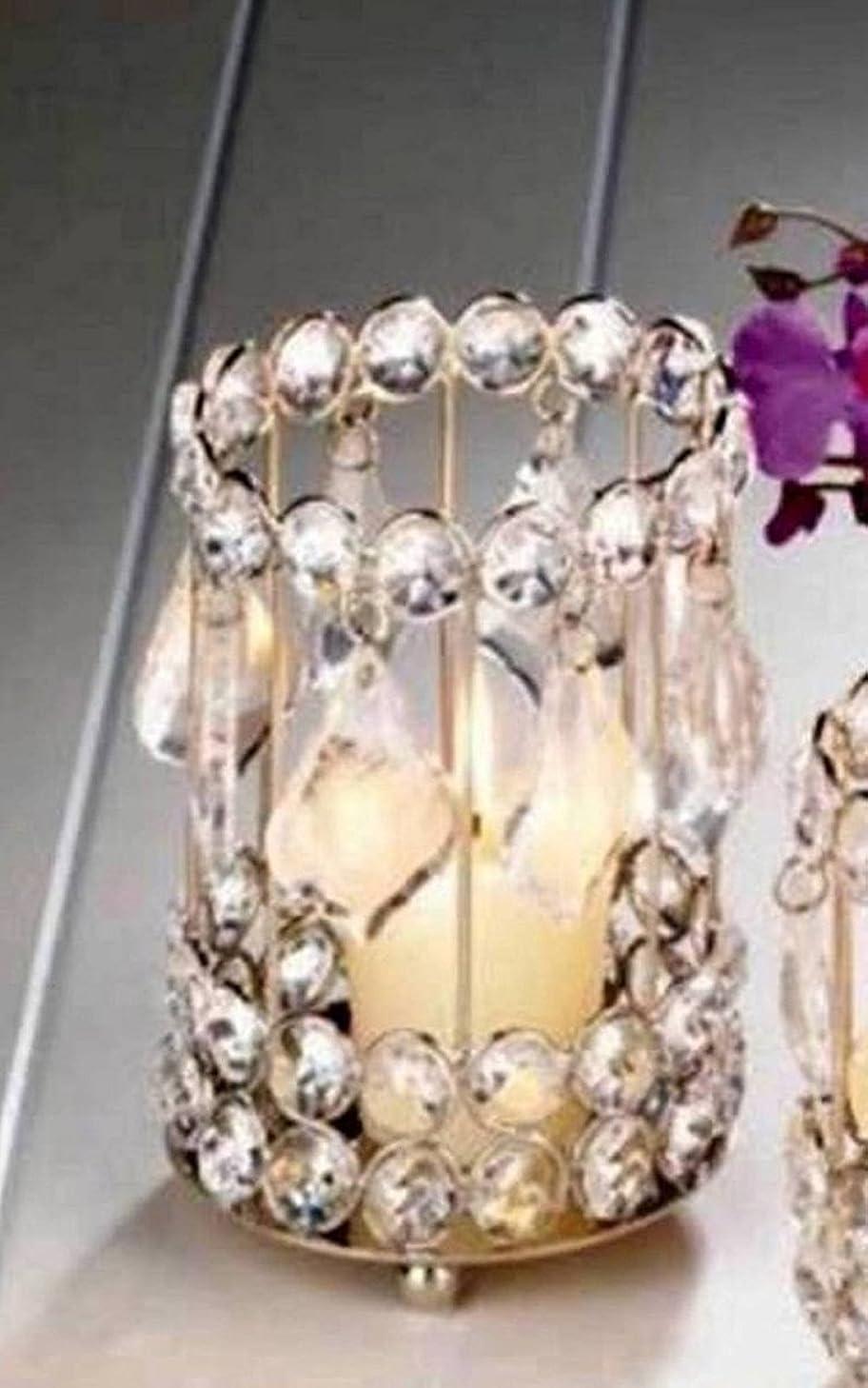 契約する外観改修SWM 10018137 5.25 in. Super Bling Crystal Drops Candle Holder