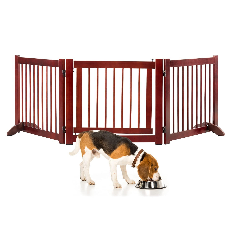 日時指定 Kinsuite Wooden Free-Standing Baby Gate Fence-3 Inche Panels 代引き不可 82