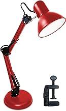 Luminária Articulada De Mesa Com Base Abajur Estudo Trabalho Tipo Pixar (Vermelha)
