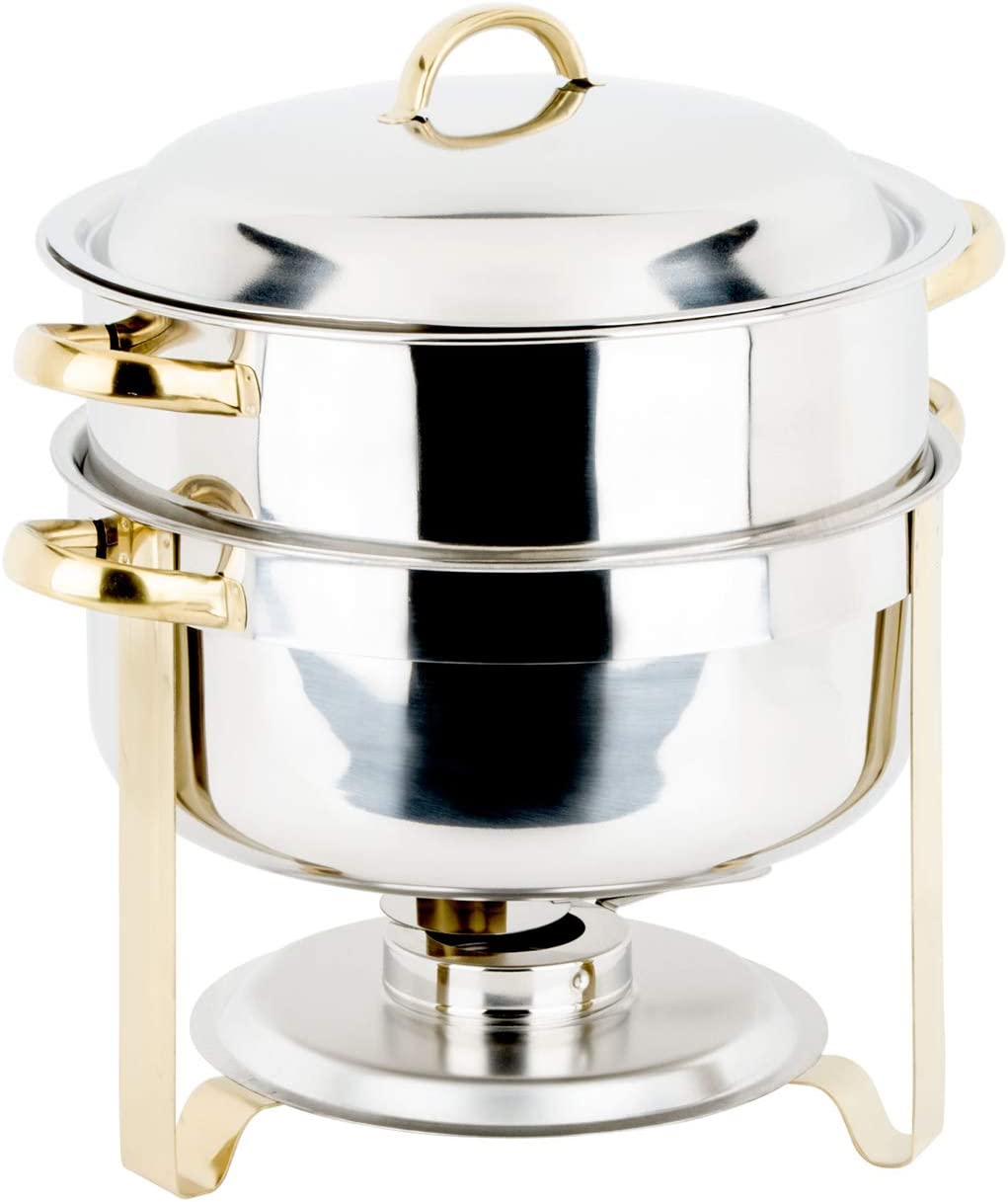Choice 14 Qt. Deluxe Round Accent 2 New products, world's highest quality popular! Soup Chafer Gold Popular standard