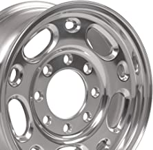 OE Wheels 16 Inch Fit GMC Chevy 2500 3500 8Lug CV82 Polished 16x6.5 Rims Hollander 5079 Cap NOT Included SET