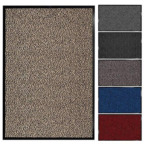 Floordirekt Schmutzfangmatte Sky | Fussmatte in 11 Größen & viele Farben | Türmatte für innen & außen (120 x 180 cm, Beige)