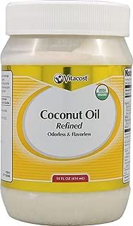 Vitacost Organic Coconut Oil Refined Odorless & Flavorless -- 14 fl oz