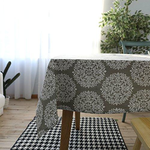 YCZZ tafelkleed, Scandinavisch design, linnen, katoen, Nordic grijs, rechthoekig, tafelkleed