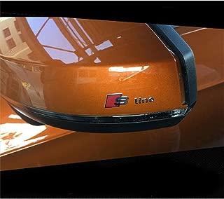 AUTO-P 6 PCS Car Styling S Line Logo rearview mirror Windows Sticker For Audi Sline A4 B8 A3 A6 C5 C6 A3 A5 Q5 Q7 Q3 TT A1 Armrest