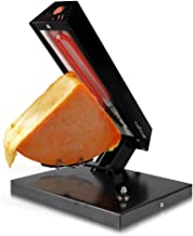 NutriChef PKCHMT24 Raclette Grill Melter/Warmer Electric Machine-Swiss Style Maker-to Cover Potatoes, Vegetables or Pasta with Melted Cheese, One Size, Black/Chrome