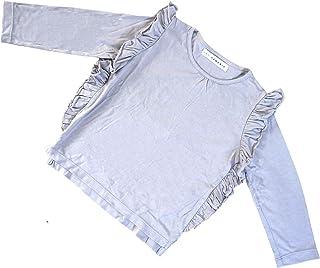 Hey Hendrix Apparel Bamboo Long Sleeve Frill Top (Light Grey) from Organically Grown Bamboo