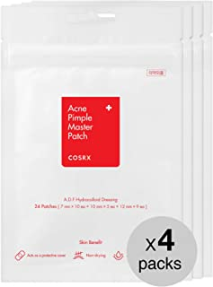 COSRX Acne Pimple Master Patch 96 Counts (24 Patches 4 Packs) | A.D.F. Hydrocolloid Dressing | Quick & Easy Treatment