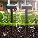 2 pezzi repellente solare ultrasuoni, repellente solare per talpe, protezione ip56, scaccia talpe solare, repeller solare per giardino roditori, serpenti, formiche, giardino, prato, cortile (nero)