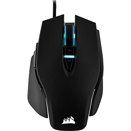 Corsair M65 ELITE RGB Ottico FPS Mouse Gaming, 18000 DPI Ottico Sensore, Retroilluminazione a RGB LED, Sistema di Regolazione del Peso, Nero