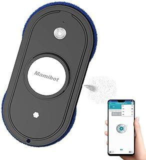 Mamibot W110-F - Robot de ventana con pulverizador de agua para ventanas altas, limpieza de azulejos con depósito de agua de 50 ml, mando a distancia, control de aplicación