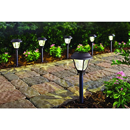 Hampton Bay Bronze Solar LED Pathway Outdoor Light with Automatically Provides Dusk-to-Dawn Illumination (6-Pack)