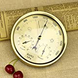Qisuw 5 Inches Barometer Thermometer Hygrometer Wall Hanging Mounted Household Weather Station