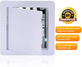 Suteck Plastic Access Panel Drywall Ceiling - 22 x 22 Inch White Access Doors