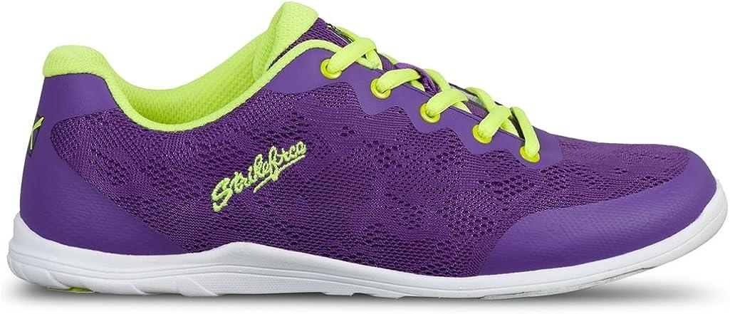 KR Strikeforce Women's Lace Bowling Shoes, Purple/Yellow, Size