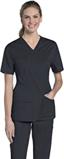 Urbane Uflex Women's Modern Fit Crossover V-Neck Scrub Top