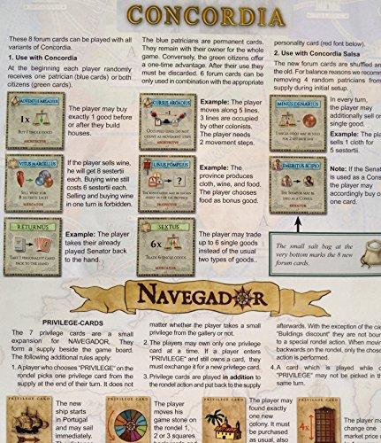 Concordia: 8 Forum Cards & Navegador Privilege Cards Mini Expansion