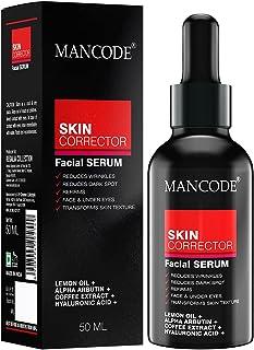 Mancode Skin Corrector Facial Serum for Men - 50ml Blemish Care | Oil Free | Anti Acne | Spot Reducing | Lemon Oil and Cof...