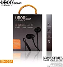 Ubon Bomb Series BM02 Prime GM-02A Noise Isolating in-Ear Earphone with Mic (Black)