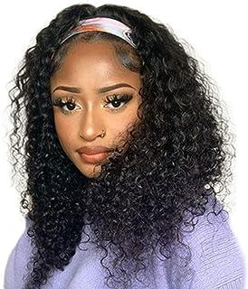 Punmasa Headband Wig Deep Wave Human Hair Wigs Glueless None Lace Front Wig Brazilian Virgin Hair Machine Made Wigs 12inch...