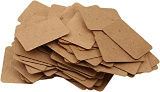 D DOLITY 100 Pcs Earring Cards, Brown Kraft Paper Earrings Display Card Holder for Jewelry Accessory Display