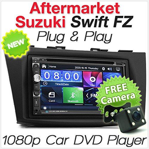 TUNEZ® 7 Pouces Double Din Voiture stéréo Lecteur DVD MP3 Compatible avec Suzuki Swift FZ (3e génération, FZ) Année 2011-2017 Unité Principale Radio stéréo Facia Fascia Kit ISO
