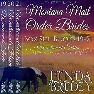 Montana Mail Order Bride Box Set, Books 19-21 audiobook cover art