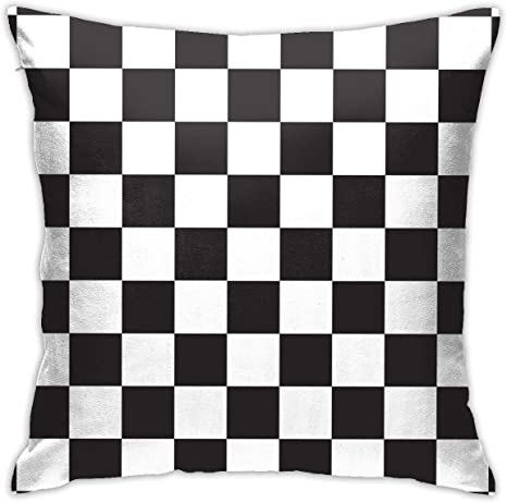 Amazon Com Bargburm Black White Race Checkered Flag Throw Pillows Covers Cushion Case Cotton Home Decor For Sleeping Couch Sofa 18 X 18 Inch Home Kitchen