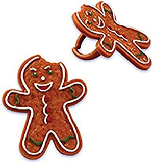 Oasis Supply Gingerbread Man Bendi Cupcake/Cake Decorating Rings, 1 1/2-Inch, Assorted, Set of 12