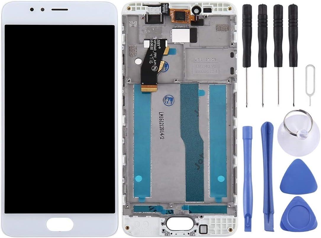 LISUONG DCD AYD para MEZU M5S / MEILAN 5S Pantalla LCD y digitalizador con Marco (Color : White)