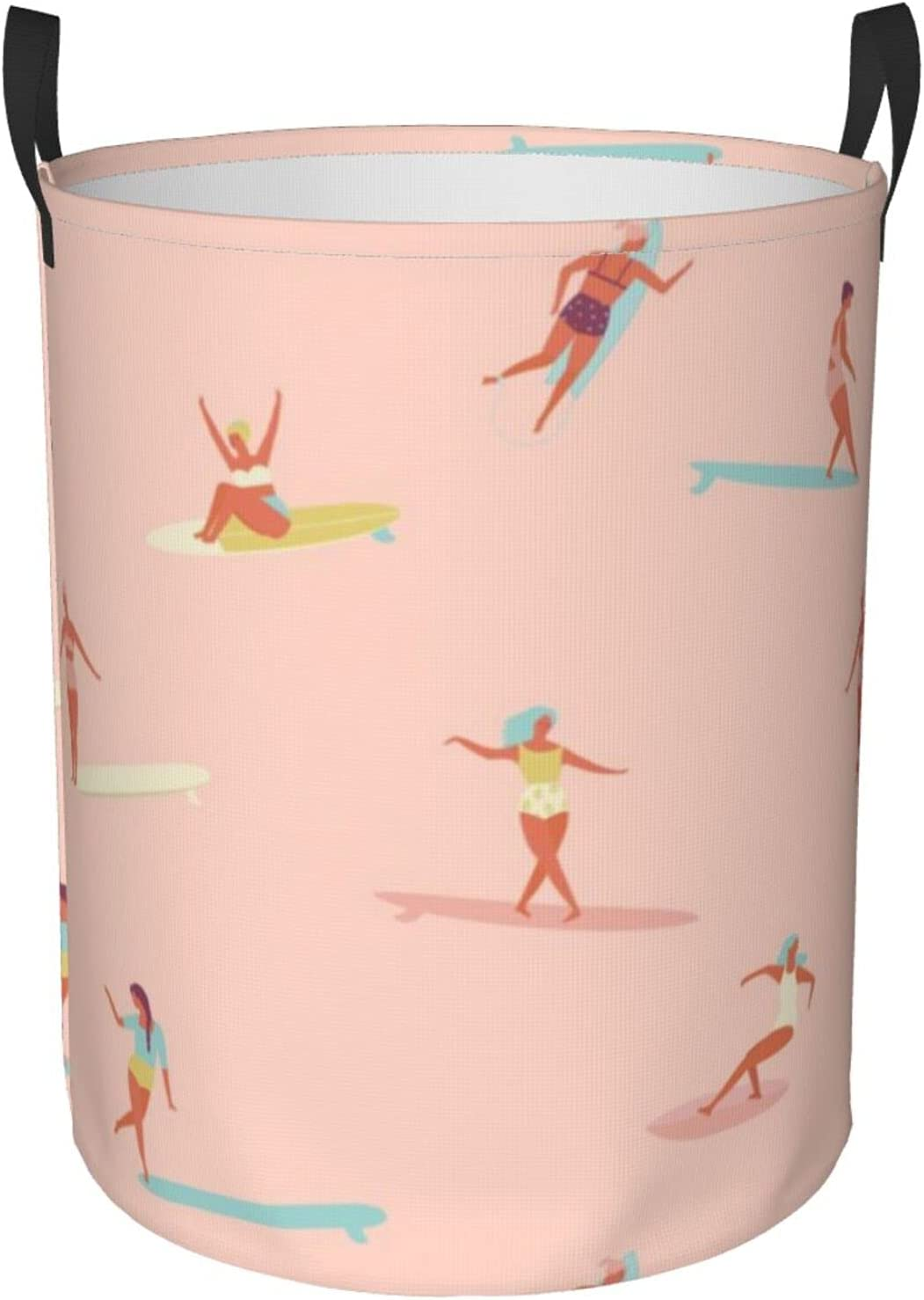 Laundry At the price Basket Surf Animer and price revision Sistas Peach with Hamper Pink Handle