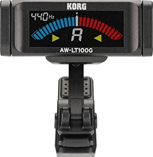 KORG AW-LT100G Lightweight Guitar Clip-On Tuner with Bright Colour LCD Screen