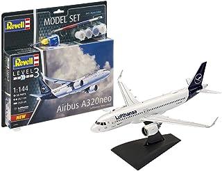 Revell Model Set 63942 Maquette d'avionAirbus A320 Neo Lufthansa, échelle 1/144, Blanc, 1/100