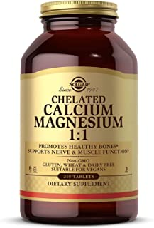Solgar Chelated Calcium Magnesium 1:1, 240 Tablets - Promotes Healthy Bones - Supports Nerve & Muscle Function - Non-GMO, ...