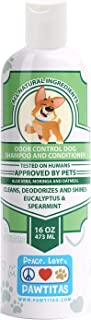 Pawtitas Dog Shampoo and Conditioner Certified Organic Ingredients Natural Shampoo, Oatmeal, Puppy Odor Eliminator Hypoall...