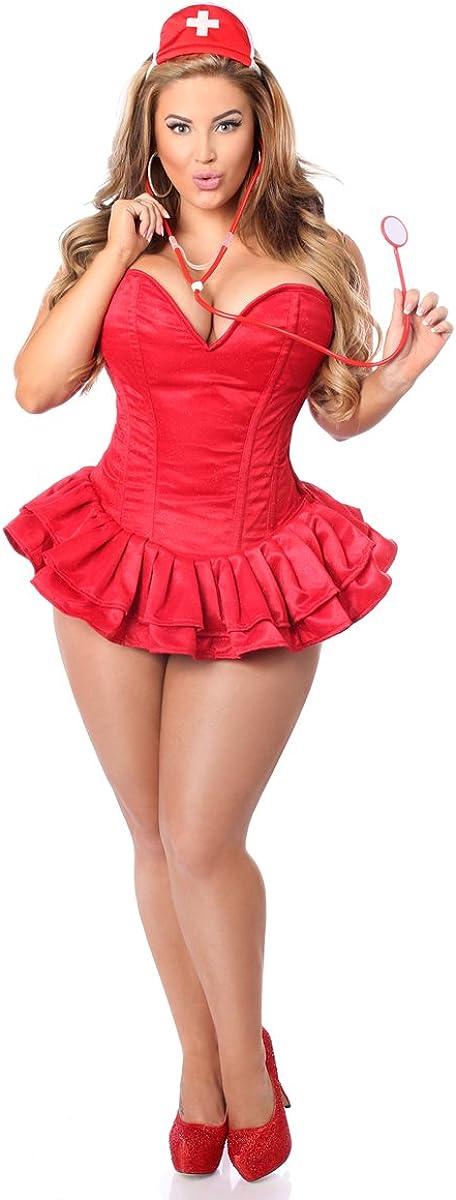Ranking TOP4 Daisy corsets Women's Top Drawer 3 Corset Low price Pc Dress Glitter Nurse